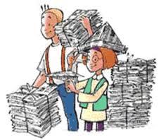 Oud papier inzamelen